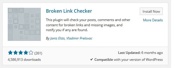 brokenlinkchecker-plugininstallnow
