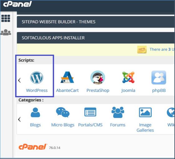 Softaculous-WordPress